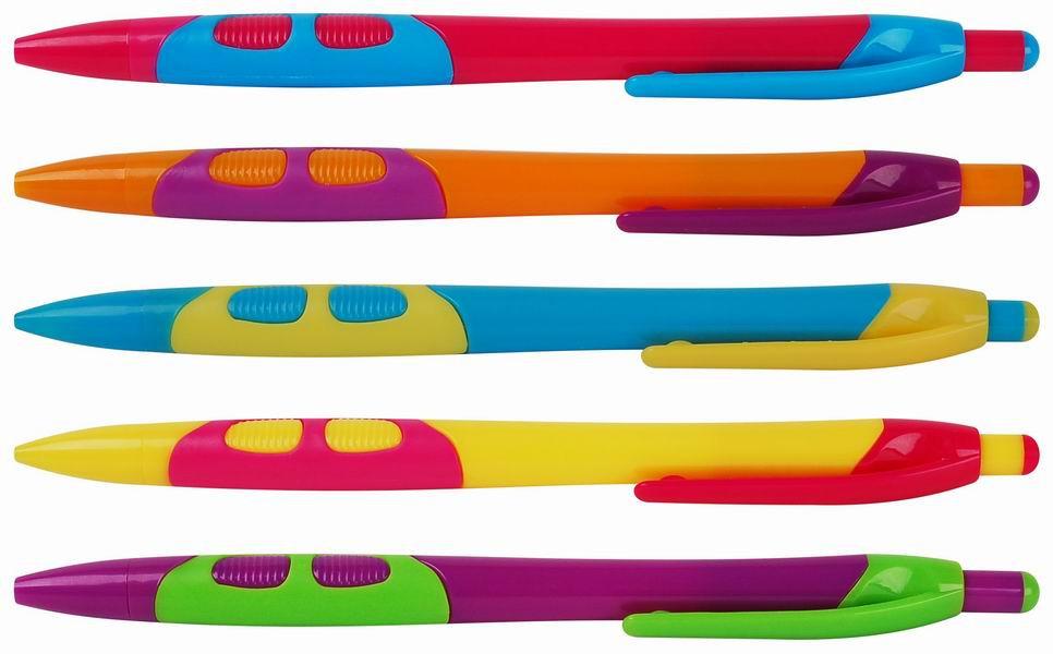 Kuličkové pero Happy barevný mix