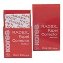 Opravné papírky Radex 20 lístků