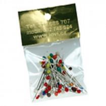 Špendlíky barevné 50 ks