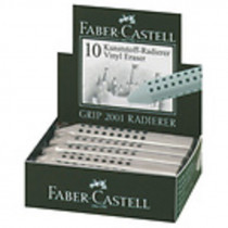 Pryž Faber - Castell GRIP 2001 stříbrná