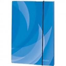 Box na spisy A4 s gumou Shadow modrý