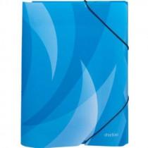 Spisové desky A4 s gumou Shadow modré