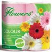 Toaletní papír Flowers dvouvrstvý barevný 200 útržků